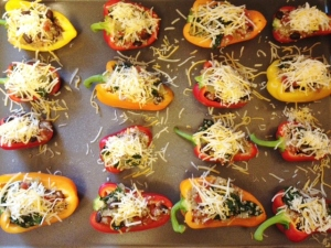 Stuffed Mini Peppers with Quinoa Mixture