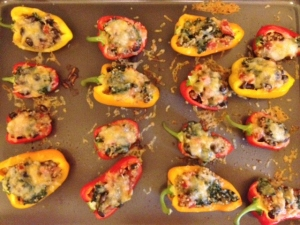 Stuffed Mini Peppers with Quinoa, Kale and Black Beans