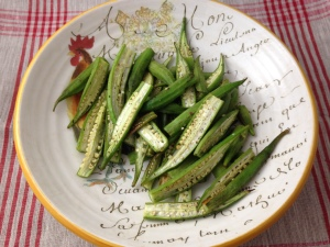 Delicious Roasted Okra